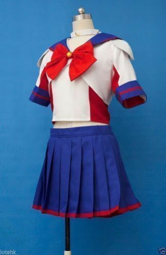 Sailor Moon Sailor V uniform Cosplay Costume Custom free shipping