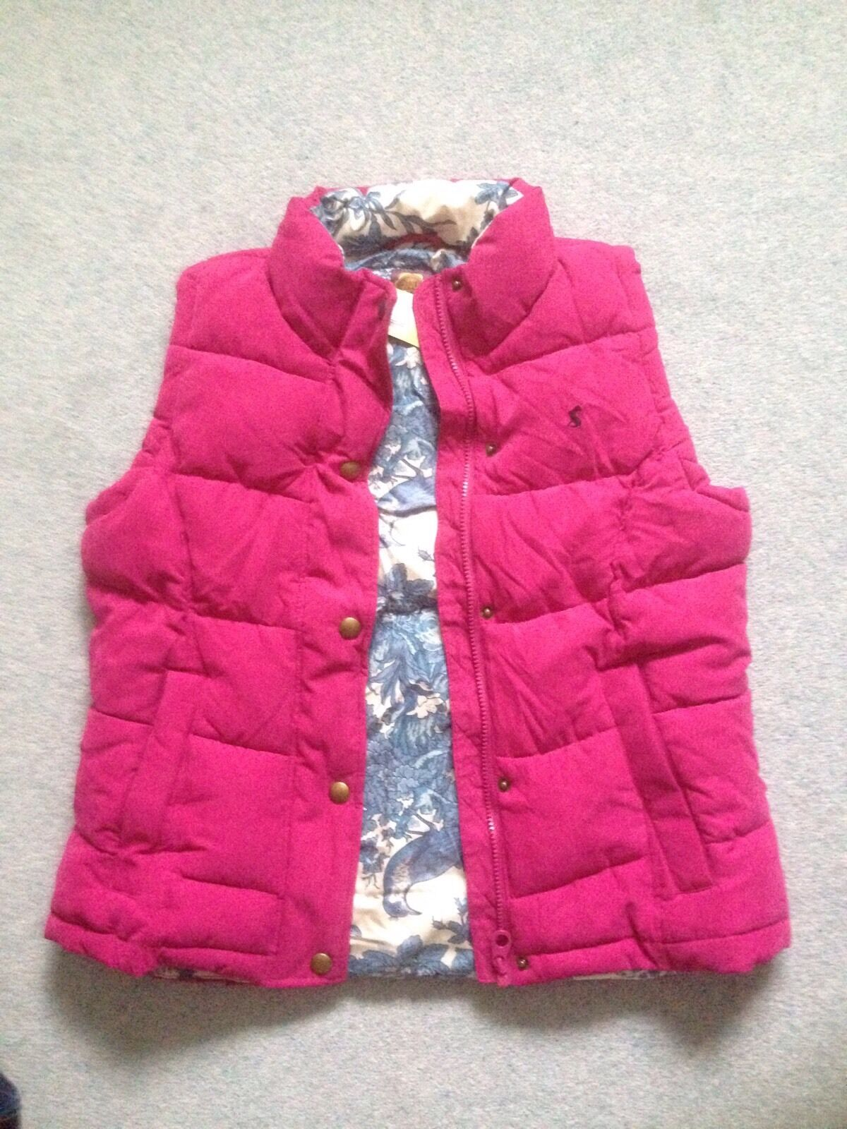 JOULES HIGHAM Pink Padded Gilet BNWT  Size 14