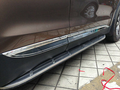 ABS Chrome Side Door Body Molding Mouliding Trim For Hyundai Santa Fe 2013 UP