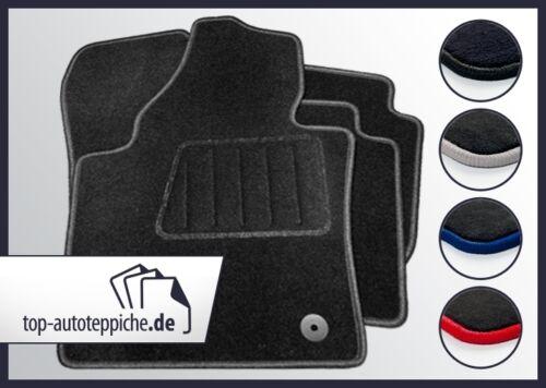 VW Lupo ab 10//01 100/% passform Fussmatten Autoteppiche Schwarz Silber Rot Blau