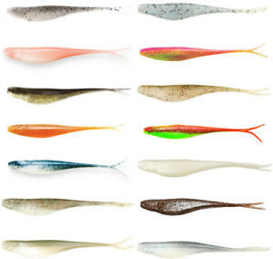 Z-Man Package of 5 Hot Chartreuse 5 Length Scented Jerk Shadz Soft Bait Freshwater//Saltwater