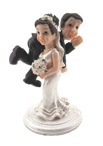 Bride and Groom Cake Top Funny Couple Bride Carrying Groom …