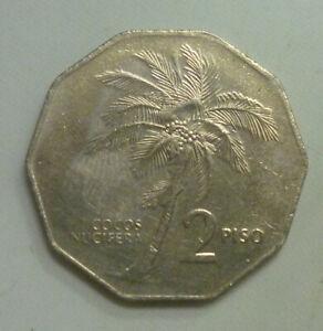 Philippines-1985-2-Piso-Andres-Bonifacio-039-Coconut-palm-039-039-Nice-Details-039