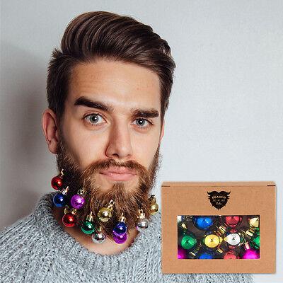 Beards n Bobs Beard Christmas Baubles & Mini Grips Present Fancy Dress (12 Pack)