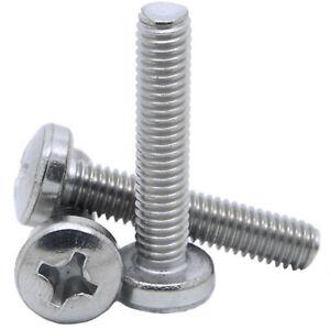 TRUSS HEAD PHILLIPS SCREWS MACHINE SCREWS BOLTS A2 STAINLESS STEEL M4//M5