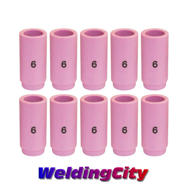 WeldingCity 5pcs TIG Welding Torch Standard Alumina Ceramic Cup Nozzles 13N10#6 for Torch 9 20 and 25