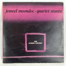 Jazz Jemeel Moondoc Quartet Muntu Athens Concert Record LP 1982 Praxis Greece