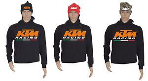 FELPA-UOMO-KTM-RACING-ITALIA-CON-CAPPUCCIO-NERA-FELPATA-CON-BERRETTA