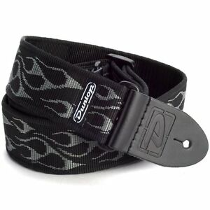 Dunlop D38-11GY 2in Classic nylon guitar strap. Flambe Grey, D-38