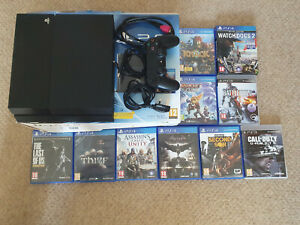 Sony PlayStation 4 500GB Jet Black Console With Selection of Games