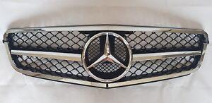 Mercedes-Benz-Clase-C-S204-T-Modelo-Frontal-Capo-Cromo-Rejilla-De-Malla-Con-Emblema