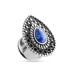 Ear-Piercing-Piercing-Double-Flared-Tunnel-with-Nazar-Amulet-Lucky-Eye