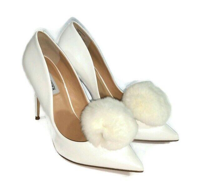 White Pom Poms, White Pom Pom Shoe Clip, White Shoe Accessories, White Shoe Clip