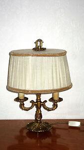 Möbel & Wohnen Methodisch Antik Massiv Messing-stoffschirm Tischlampe 2 Flammig 44 Cm Hoch SchnäPpchenverkauf Zum Jahresende Tischlampen