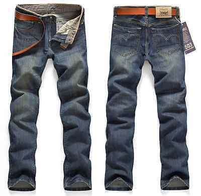 New HOT Men Stylish Designed Slim Fit Trousers Casual Jeans Pants #18