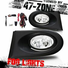 Stealth For 2002-2004 Acura RSX Clear Lens Chrome Housing ABS Fog Lights Lamps