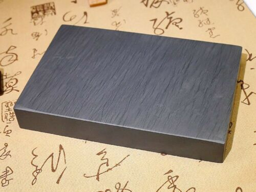 """8/"""" She Inkstone Natural Rock 回 Pattern Stone Inkslab Calligraphy Painting Tool"""