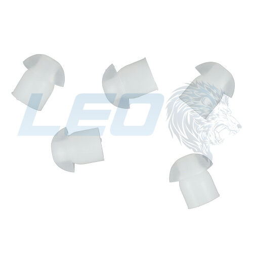 Qty 5 Replacement Clear Rubber Mushroom Style Radio Eartips Earbuds Tips