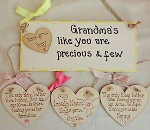 Personalised Plaque Mum Nanny Gran Nan Nanna Grandma Mam Nana Gift Mother/'s Day