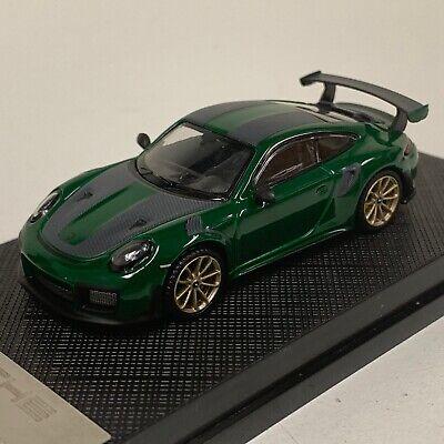 1 64 Porsche 911 Gt2 Rs 991 From 2018 In Green Carbon Stripe Lmtd 2020 Pcs Ebay