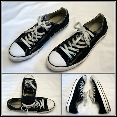 converse black white low top athletic/basketball/casual