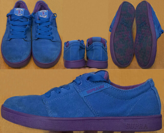 timeless design 9e1d8 06462 NO INSOLES Supra Terry Kennedy Blue Suede   Canvas Skate Shoes Men s US 7  EUR 40