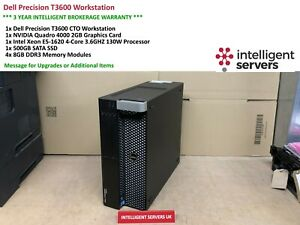 Dell-T3600-Workstation-E5-1620-3-6GHz-32GB-500GB-SSD-1TB-HDD-Quadro-4000