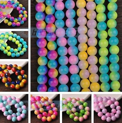 Bulk Wholesale Round Glass Loose Spacer Colorful Beads 6mm 8mm 10mm 12mm Lot