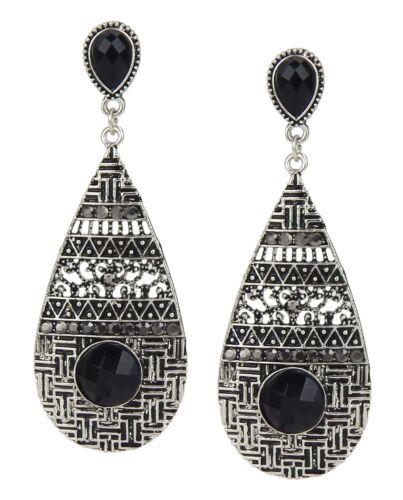 Pendientes de plata negro durante mucho tiempo pendientes by ella Jonte nueva temporada New Arrival