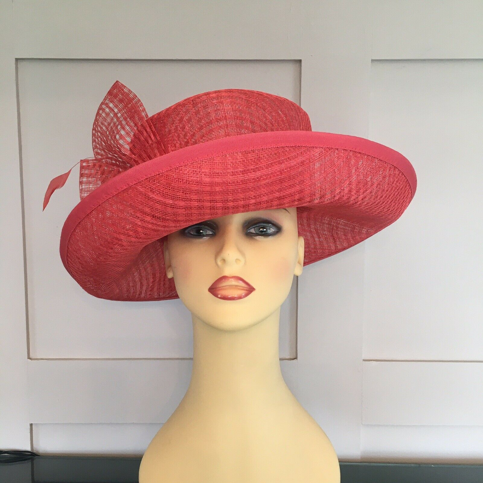 Wedding Hat Races Special Occasion Coral By Frank Usher Vgc