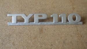 """Schriftzug, Emblem, NSU 60er Jahre Schriftzug  """" TYP 110 """""""