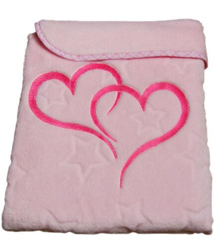 Decke 75x100cm Herz Bettdecke Babydecke Schmusedecke Schlafdecke Farben