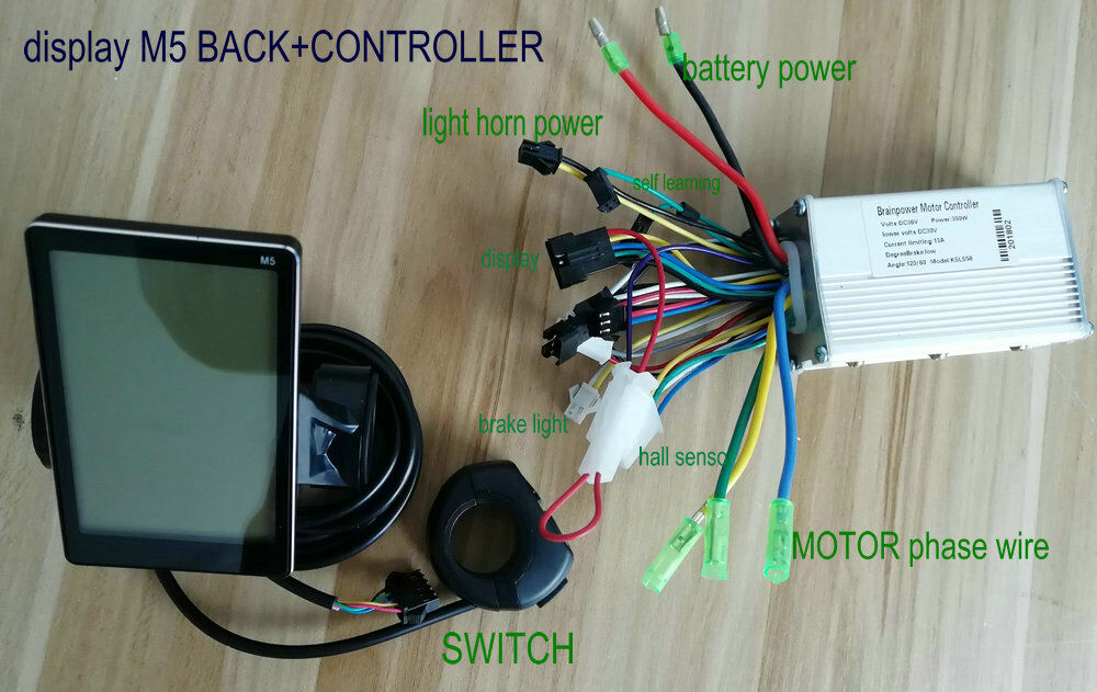Display+controller 24v 36v 48v 60v 250w 350w for electric bike scooter MTB