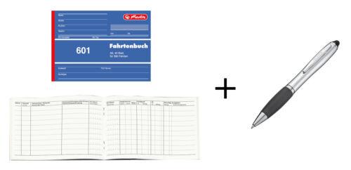 Herlitz Fahrtenbuch 601 40 Blatt Touchpen Kugelschreiber A6