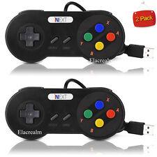 2 PCS Super Nintendo Famicom SF SNES PC Controller USB Gamepad Joypad Windows