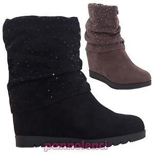 Zapatos-botas-botines-mujer-cuna-de-ante-strass-ecopiel-nuevo-J2001