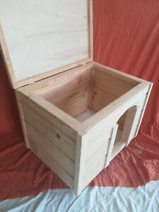 CASETA de madera para perro. Con TAPA. 75 cms. Raza pequeña-median