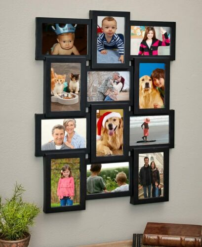 12 PICTURE COLLAGE MULTI-PHOTO WALL FRAME DISPLAY HORIZONTAL VERTICAL Home Decor