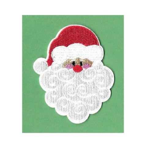 Santa Claus B Embroidered Iron On Applique Patch Kris Kringle Christmas