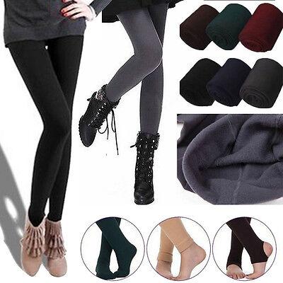 Fashion Womens Warm Winter Thick Skinny Slim Footless Leggings Stretch Pants New