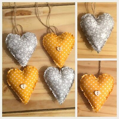 Astonishing Four Shabby Chic Hanging Fabric Love Hearts Hanging Hearts Home Interior And Landscaping Ponolsignezvosmurscom