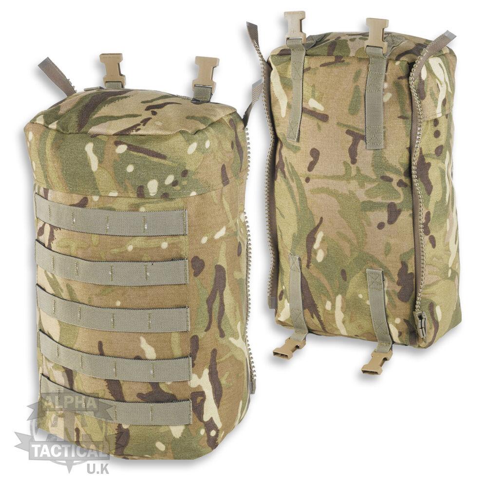 British Army Mtp Multicam Plce Molle Zaino Militare Tasca Laterale Paio