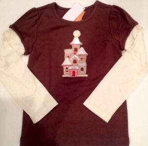 NWT Gymboree Girls Winter Cheer Gingerbread House Top Size 4 6 7