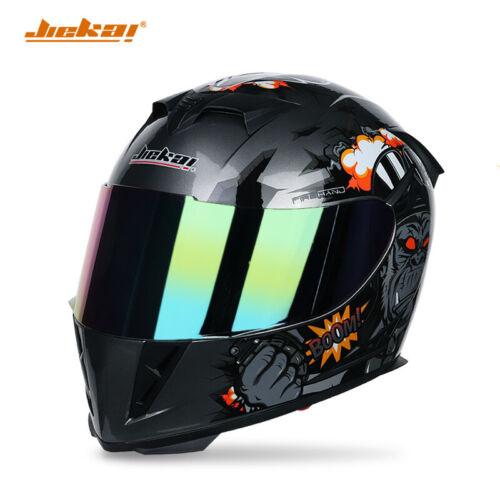 Jiekai Full Face Motorcycle Helmes Knight protection Motorcross Motorbike Helmet