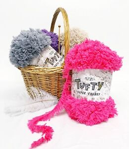 King-Cole-Tufty-Super-Chunky-Really-Soft-Fluffy-Polyester-Yarn-Wool-200g