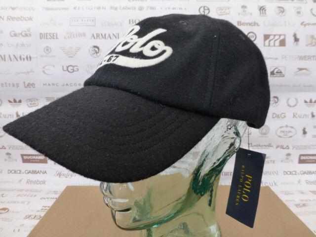 af68eeabe34 POLO RALPH LAUREN Baseball Cap Wool Mix Black Hat Classic Sport Caps BNWT  RRP£49