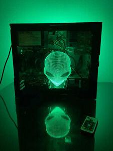 HUGE GAMING BUNDLE! 3D Alien Dell PC i5 GT1030 8GB 1TB RGB +MOUSE +KB +HEADSET!