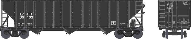 Bowser LYCOMING VALLEY 100-Ton 3 Bay Hopper Cars (3 car set   3 car  ) R-T-R