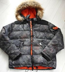 Tigha-Herren-Winter-Jacke-Kleist-spray-camouflage-Size-L