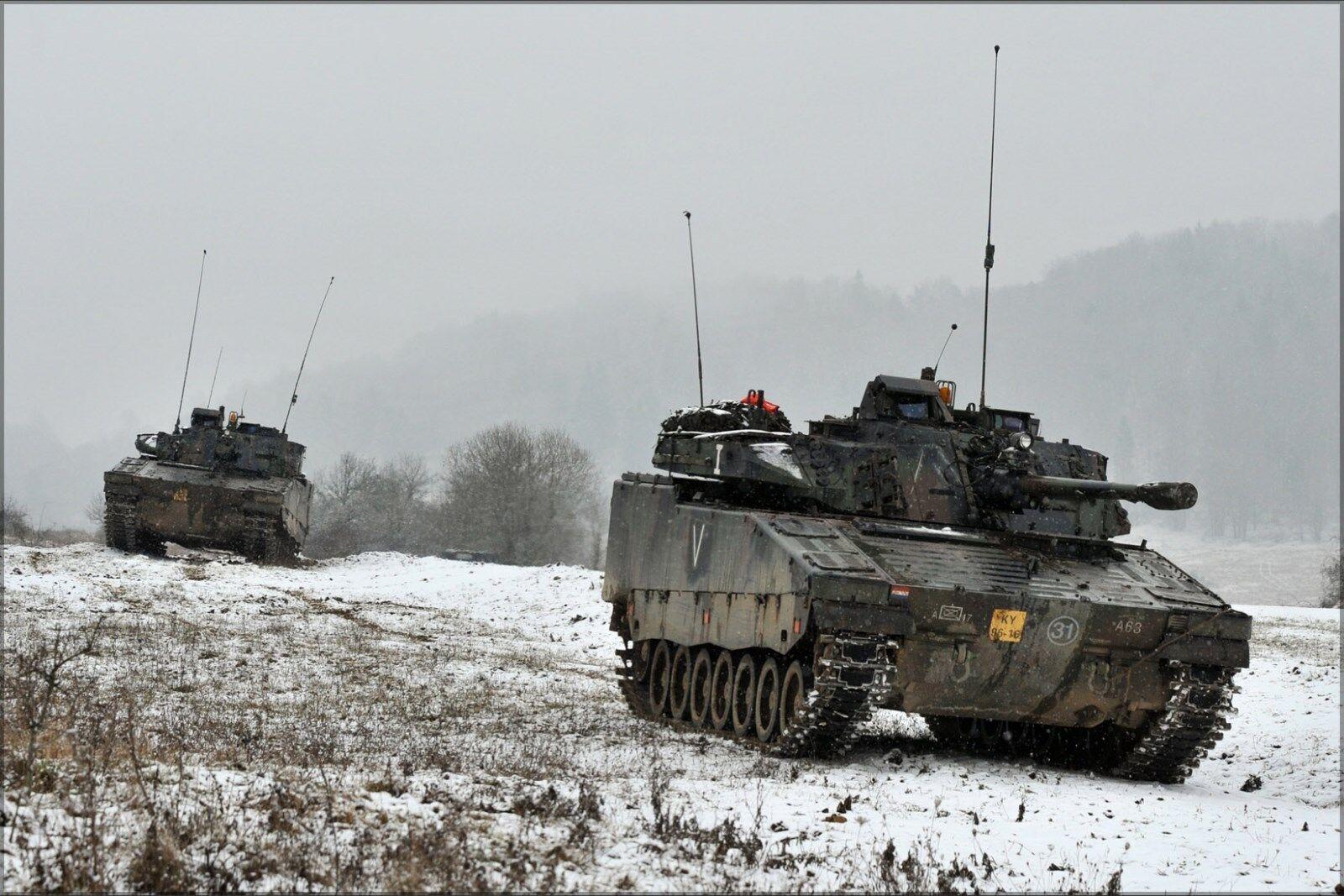 Poster, Many Größes; Two Dutch Cv 90 Combat Vehicle Tank